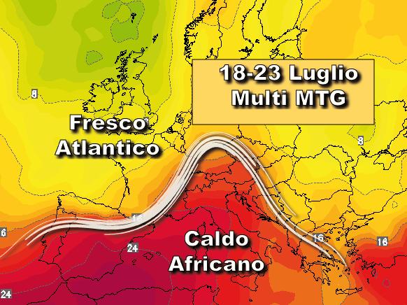 Temporali e forte vento: allerta meteo per maltempo per venerdì 15 luglio