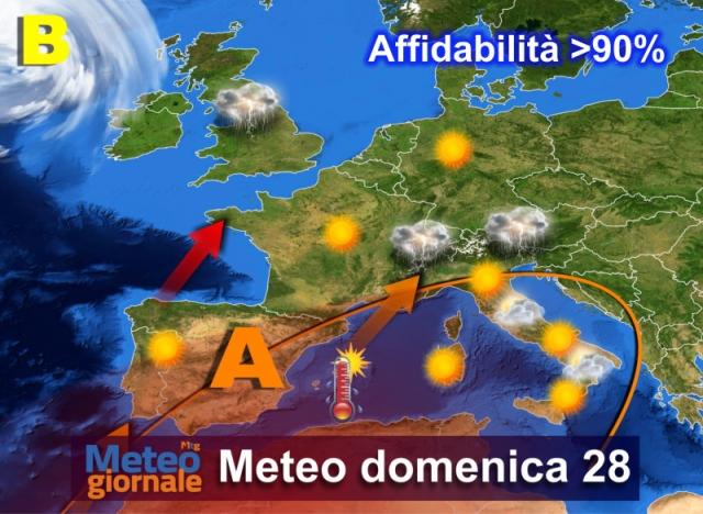 Previsioni meteo: stop al caldo, in arrivo temporali e calo delle temperature