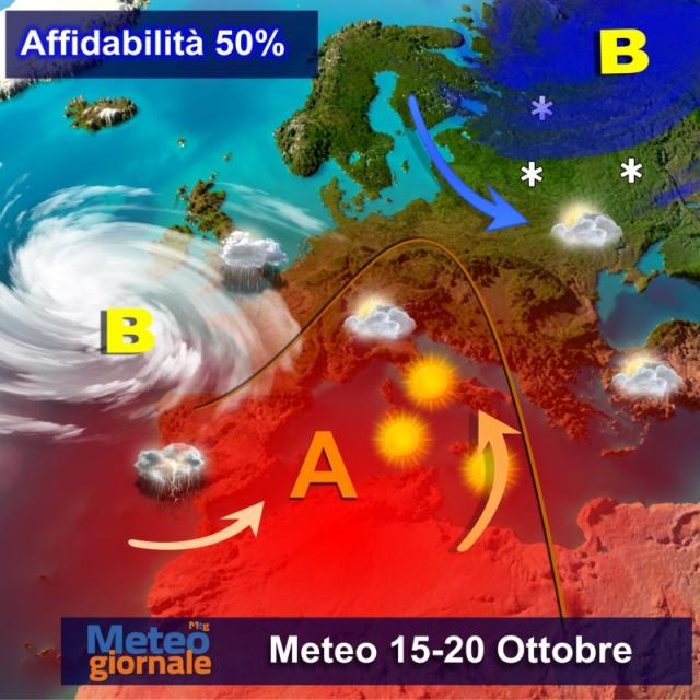 Previsioni meteo/ Allarme nubifragi al Nord Italia. Ma al Sud torna l'estate