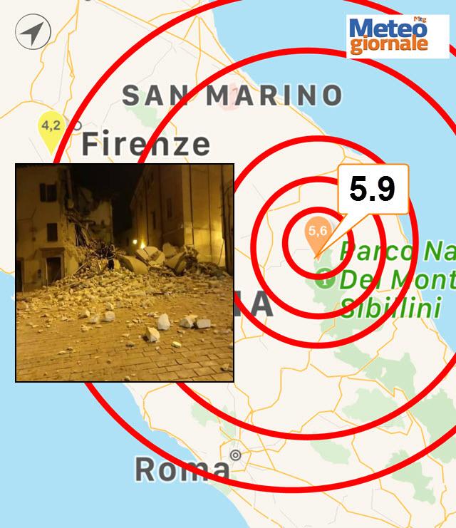 Terremoto Umbria, nella notte piogge torrenziali e sciame sismico