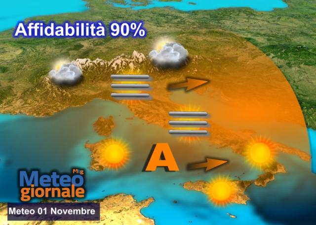 Meteo, piogge e freddo in arrivo su gran parte dell'Italia dopo Ognissanti