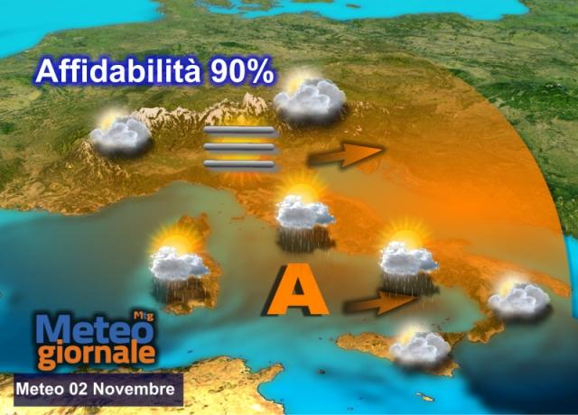 Maltempo, piogge e temporali in arrivo in Campania