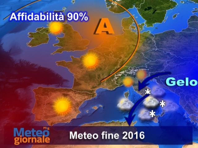 Freddo e neve in arrivo su Calabria e Sicilia