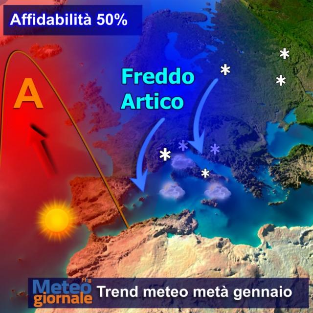 La Befana porterà gelo e neve in Europa e in Italia