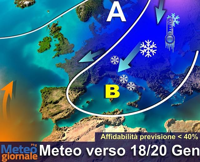Previsioni meteo Abruzzo 10 e 11 gennaio, neve e gelate in arrivo