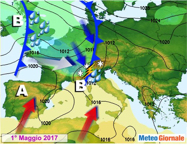 Maltempo, arriva Igor il terribile: inizio maggio instabile
