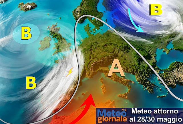 Meteo: temperature in aumento, più al nord che al sud