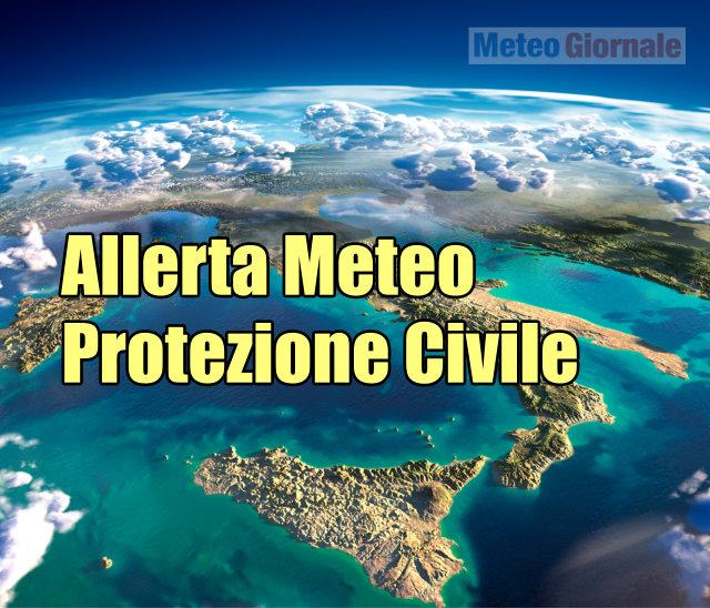 Allerta METEO Protezione Civile per MALTEMPO in varie regioni d'Italia