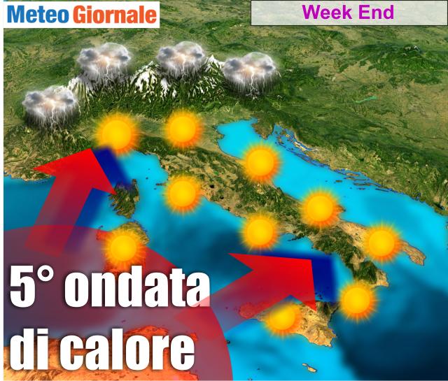 METEO, allerta ~ dal 31 Luglio arriva il CALDO infernale di LUCIFERO