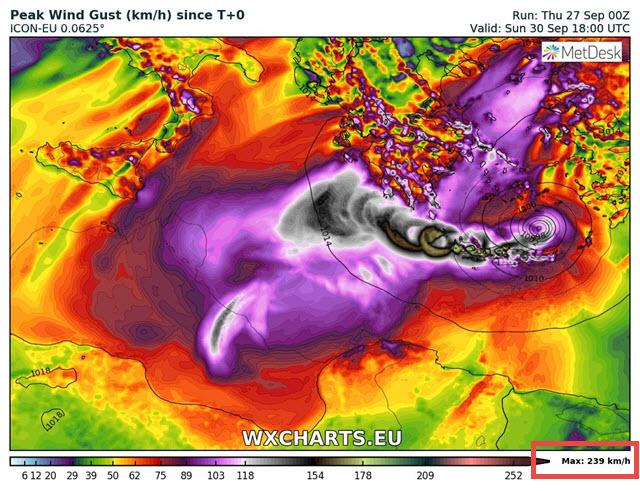Medicane, pericolo uragano per la Sicilia