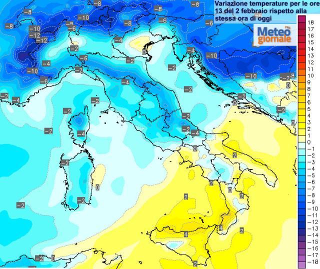 Freddo weekend di Carnevale: calano le temperature, sabato di nuovo pioggia