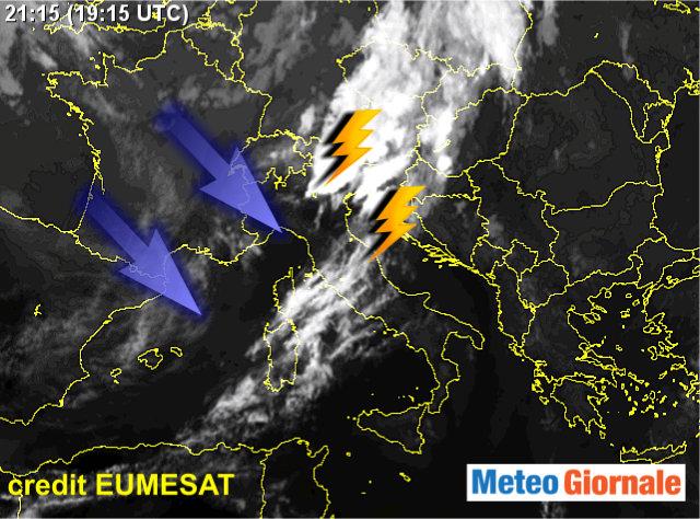 E' arrivato il temporale: grandine sul Polesine