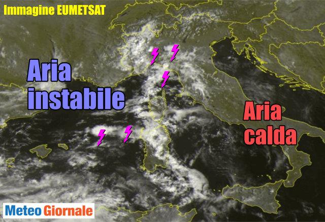 Meteo. Rischio temporali in molte zone d'Italia