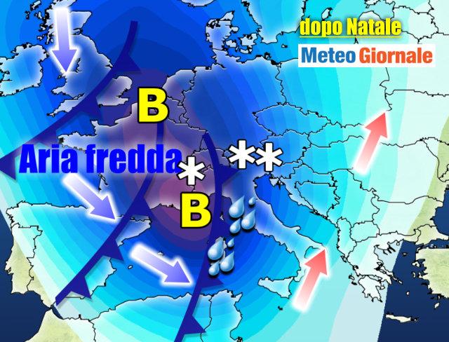 Meteo: Natale col sole, poi pioggia da Santo Stefano| Le previsioni