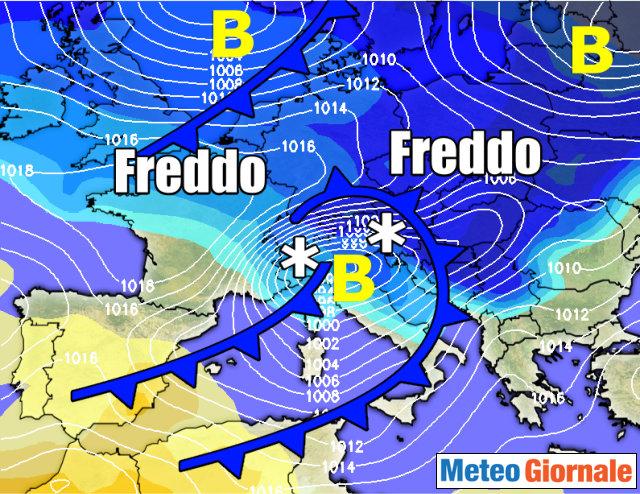 Meteo. Domani aggiornamento sulla probabilità di neve per venerdì