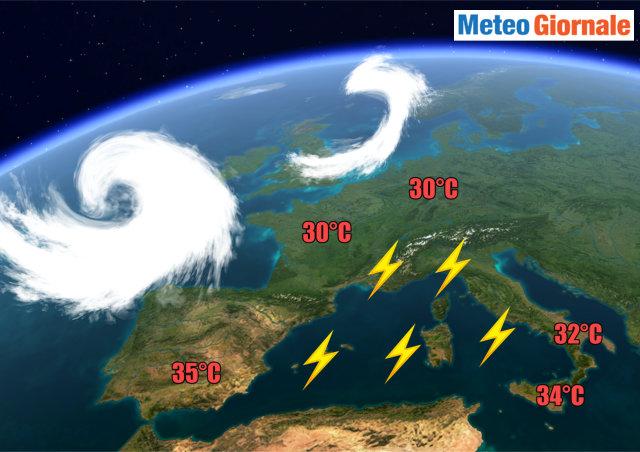 Meteo: temperature in calo da stasera