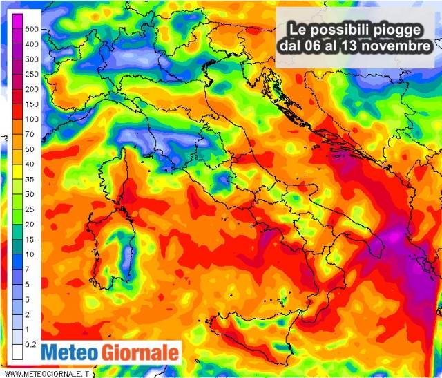 Meteo, inizio di settimana all'insegna della pioggia: Italia nella morsa del maltempo