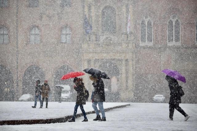 Tracollo termico e neve a bassa quota