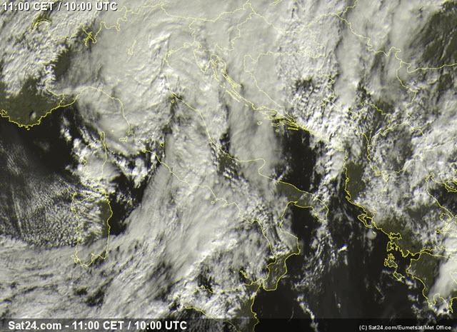 Forte calo delle temperature, pioggia e neve anche su Emilia e Toscana