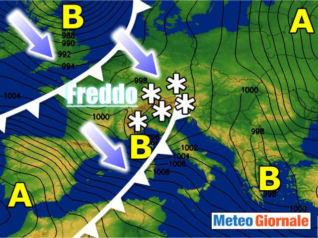 Previsioni meteo, da giovedì freddo polare: ponte dell'Immacolata sotto la neve