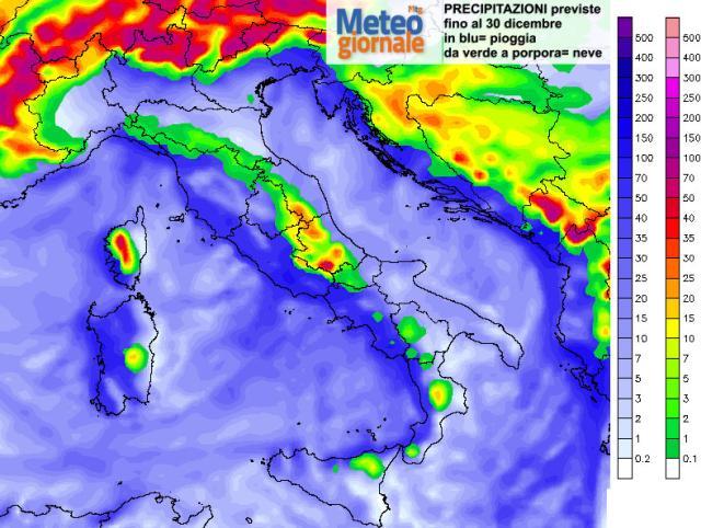 Meteo, arriva l'anticiclone di Natale: da Santo Stefano pioggia e neve