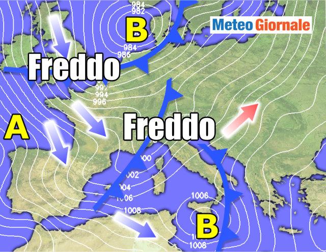 Meteo Giuliacci, freddo sull'Italia: in arrivo maltempo e neve