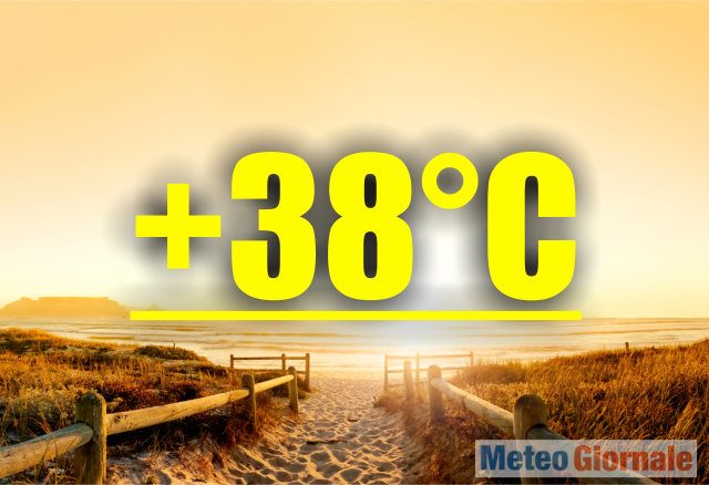 Caldo africano fino a mercoledì