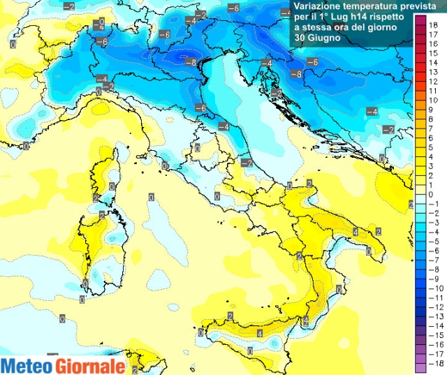 Meteo, temporali in arrivo al Nord. Temperature in aumento al Sud