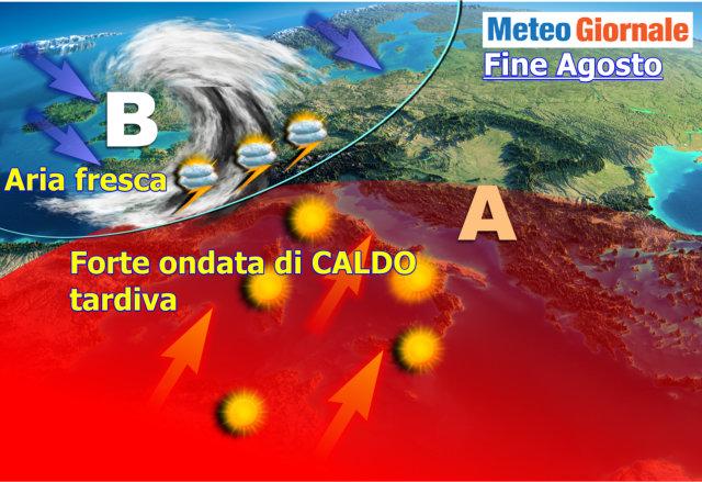 Meteo. L'anticiclone si rafforza da metà settimana. Temperature in aumento