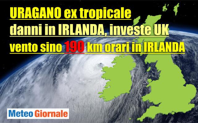 Tempesta Ophelia si dirige su Europa