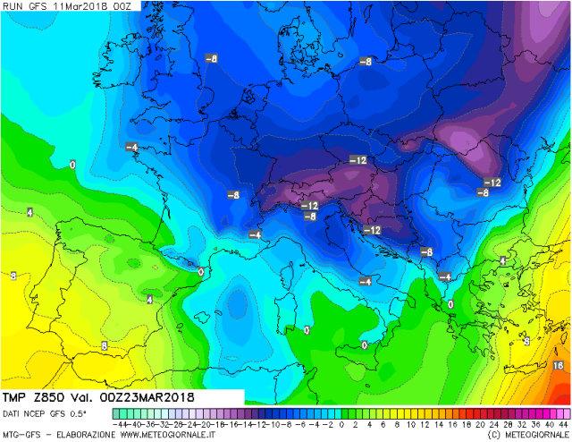 Neve e piogge in arrivo: dal 18 marzo torna Burian