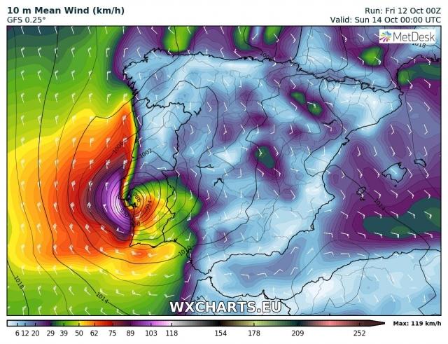 Tempesta tropicale Leslie arriva in Portogallo, venti fino a 190 km/h