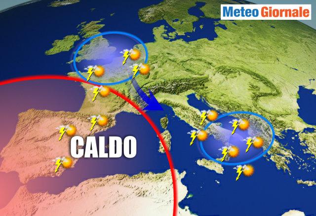 Arriva la burrasca di Ferragosto: temporali e crollo delle temperature