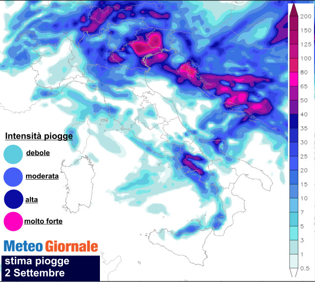 Nuovo allerta meteo in provincia, pioggia e temporali in arrivo