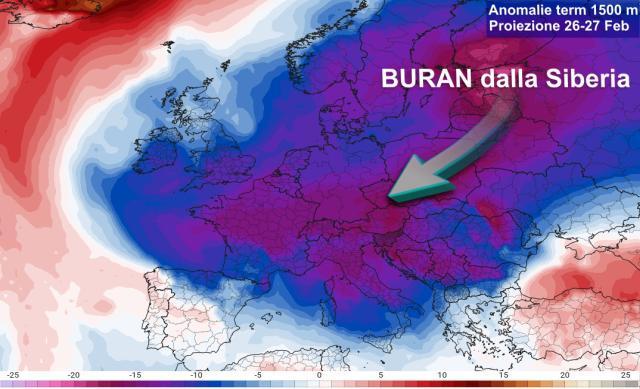 Domani il grande gelo Siberiano. Scatta l'allerta. Protezione civile in mobilitazione