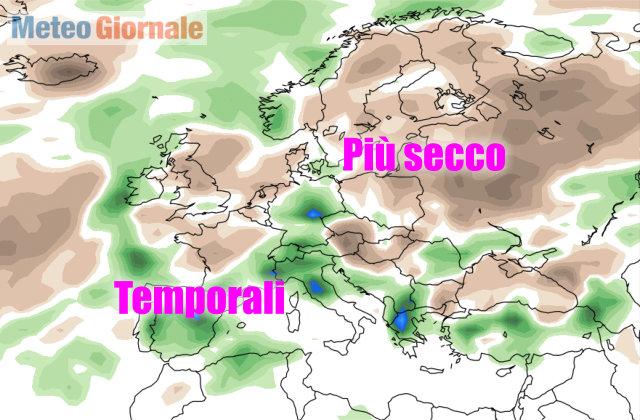 Maltempo perturbazione dall'Atlantico per Umbria è allerta gialla e freddo