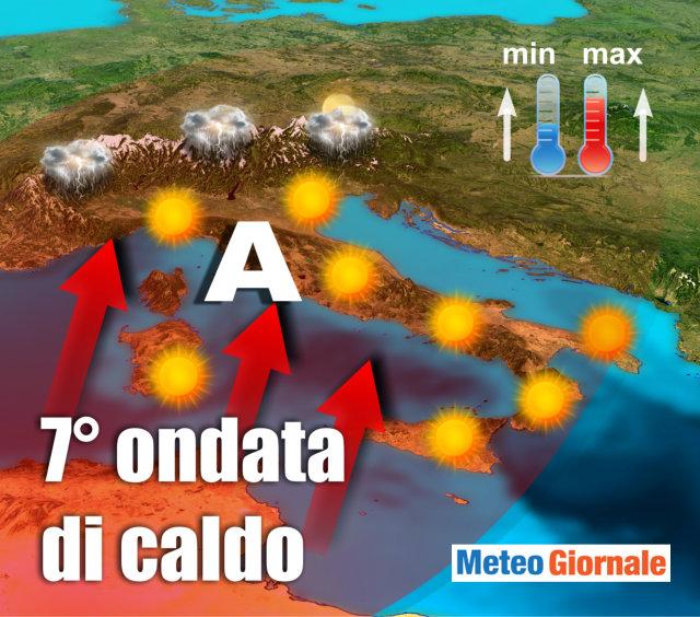 Meteo, torna il caldo con Polifemo: pioggia rimandata a settembre