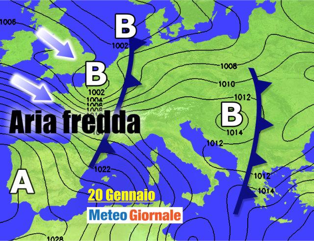 Il meteo di venerdì 12 gennaio a Brescia e provincia