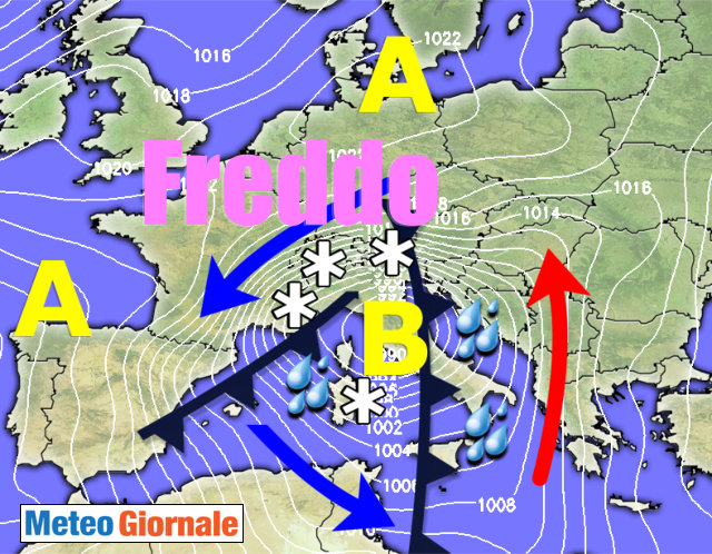 METEO 30 Novembre - 6 Dicembre: avvio d'inverno freddo, tornerà la neve