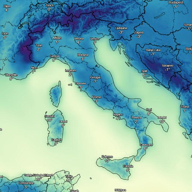 Meteo, tra giovedì e venerdì possibili nevicate sulla Liguria