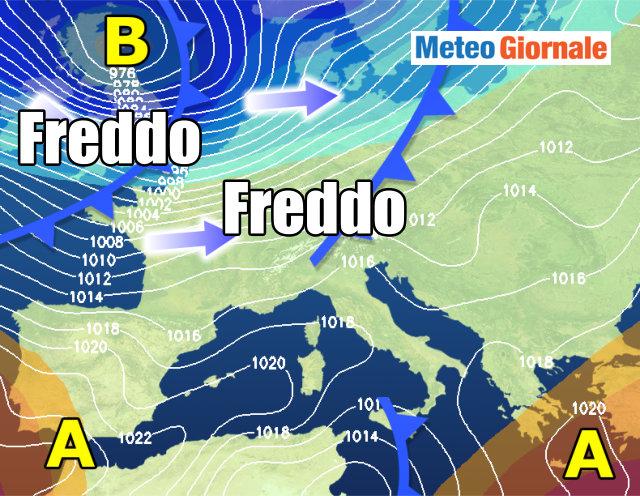 Previsioni meteo Abruzzo venerdì 24 novembre