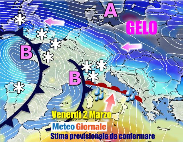 Meteo: arriva ondata di gelo storica, le previsioni