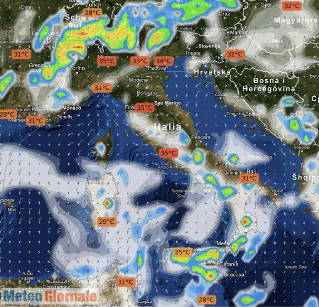 Meteo: in arrivo caldo, temporali e anche ciclone autunnale