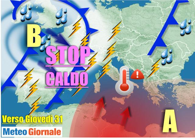 Meteo Napoli: stop all'ondata di calore, arrivano piogge e fresco