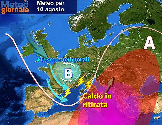 Maltempo, temporali al nord e venti forti al sud