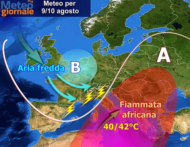 Previsioni meteo: in arrivo l'atteso calo delle temperature