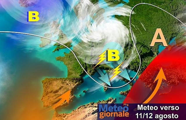 Addio caldo torrido (per qualche ora): maltempo e temporali in arrivo
