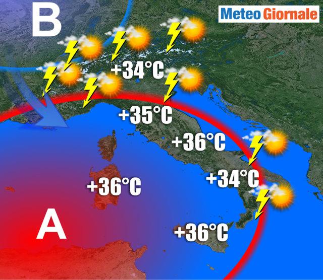 Arriva Caronte: temporali, piccoli tornado e temperature su anche di 15 gradi