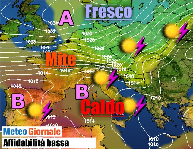 Meteo: le previsioni della settimana
