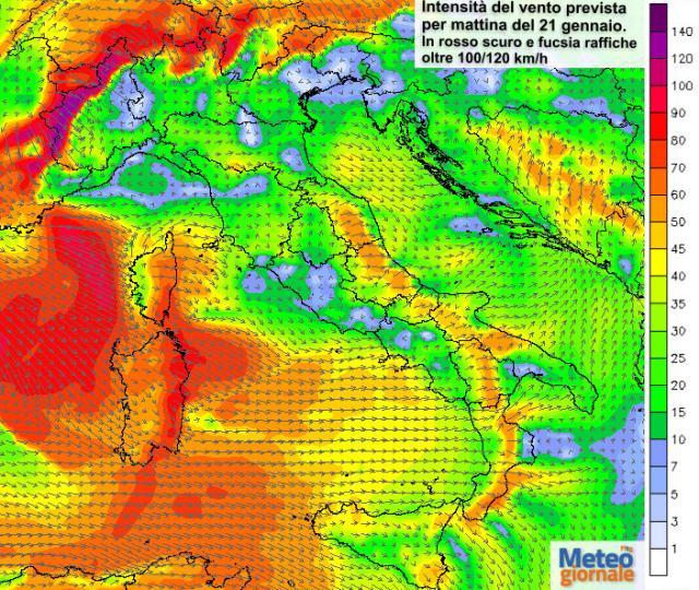 Il meteo del weekend: forti venti e mareggiate sulla Gallura